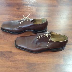 BARNEY'S NEW YORK brown men's shoes SIZE 46